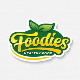 foodies typography logo label healthy food 106244 165